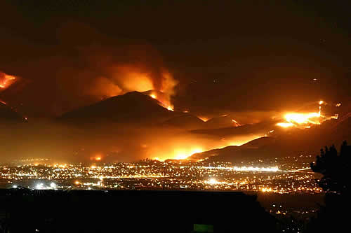 san diego wildfire images 2003 2007